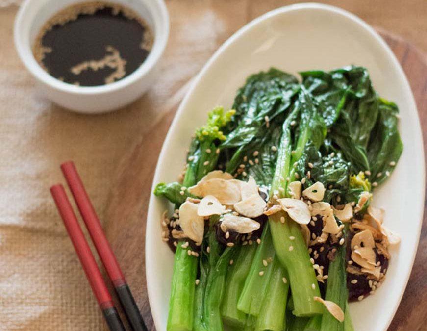 Choi sum (Chinese bladkool met oestersaus)