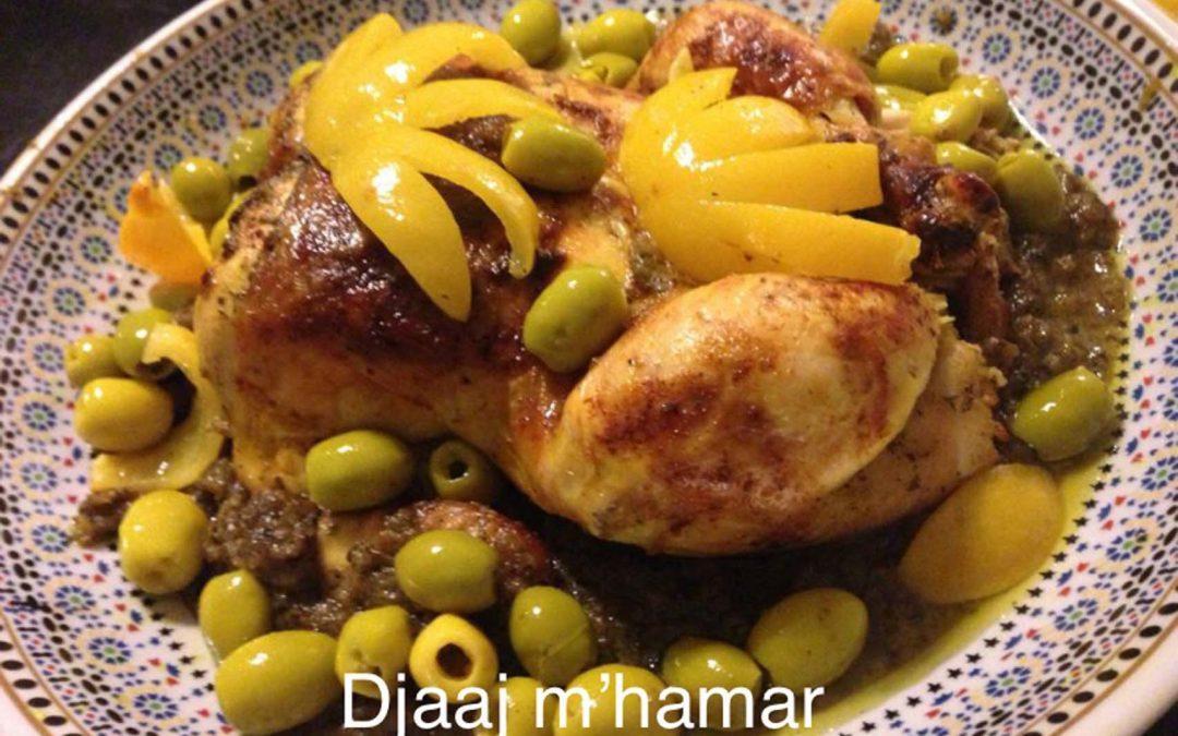 movedis-dietist-voeding-beweging-rotterdam-zuid_Marokkaanse-keuken-Djaaj-m'hamar-gebraden-kip-olijvensaus